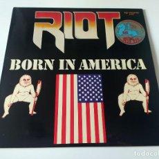 Discos de vinilo: LP RIOT - BORN IN AMERICA. Lote 56913677