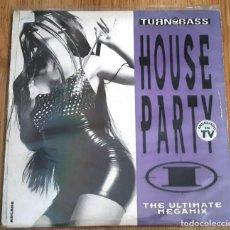 Discos de vinilo: HOUSE PARTY I (THE ULTIMATE MEGAMIX) (2 LP'S). Lote 224163631