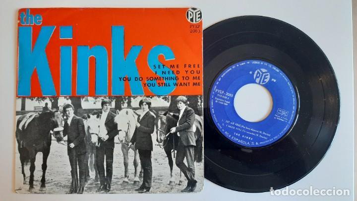 THE KINKS SET ME FREE 45 EP ORIGINAL ESPAÑOL 1965 PYE MUY RARO (Música - Discos de Vinilo - EPs - Pop - Rock Internacional de los 50 y 60)