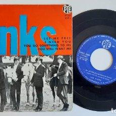 Discos de vinilo: THE KINKS SET ME FREE 45 EP ORIGINAL ESPAÑOL 1965 PYE MUY RARO. Lote 224164036