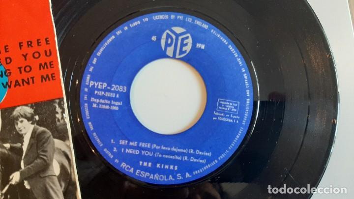 Discos de vinilo: THE KINKS set me free 45 EP ORIGINAL ESPAÑOL 1965 PYE MUY RARO - Foto 2 - 224164036