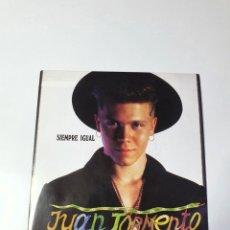 Discos de vinilo: JUAN TORMENTO - SIEMPRE IGUAL / SE QUE HAY ALGUIEN MÁS, ARIOLA, 113764 (1A), 1990, ESPAÑA.. Lote 224181083