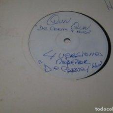 Discos de vinilo: QUN QUN DE CARNE Y HUESO - LP MAXI - MAQUETA EN VINILO DE LA DISCOGRAFICA PRENSAJE DEMO 1993. Lote 224183456