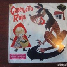 Discos de vinilo: DISCO OBSEQUIO STARLUX / CAPERUCITA ROJA / MARFER 1967 - ENVIO GRATIS. Lote 224210955