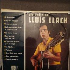 Discos de vinilo: ELS EXITS DE LLUIS LLACH: CONCENTRIC, EL PRIMER LP EL BANDOLER, L'ESTACA,COP DE DESTRAL + 9 1969. Lote 224218373