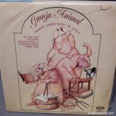 Discos de vinilo: GRANJA ANIMAL. 1ª OPERA ROCK CATALAN 1976 JOAN VIVES, LUIS M.ROS,MIQUEL CORS,J.BAPTISTA HUMET. Lote 224221335