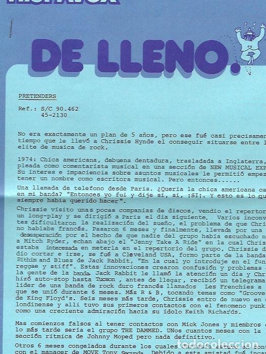 Discos de vinilo: THE PRETENDERS. Pretenders II (vinilo lp 1981) - Foto 5 - 224232732