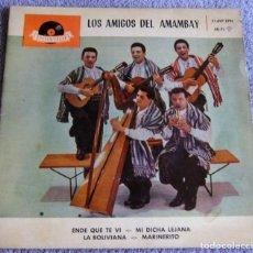 Discos de vinilo: LOS AMIGOS DE AMAMBAY - EP - ENDE QUE TE VI + 3 - AÑO 1961. Lote 224244495