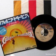 Discos de vinilo: AMERICA - CALIFORNIA DREAMING - SINGLE CASABLANCA 1979 JAPAN BPY. Lote 224244918