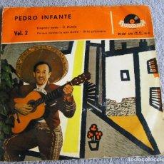 Discos de vinilo: PEDRO INFANTE - VOL. 2 - EP - LLEGASTE TARDE + 3 - AÑO 1958. Lote 224245938