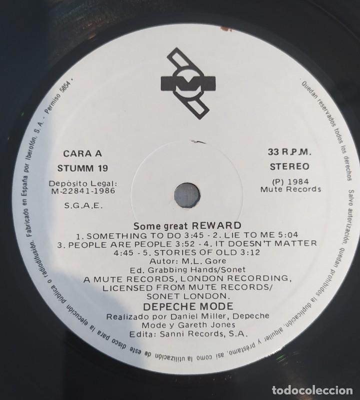 Discos de vinilo: LP DEPECHE MODE -SOME GREAT REWARD - Foto 3 - 224250838