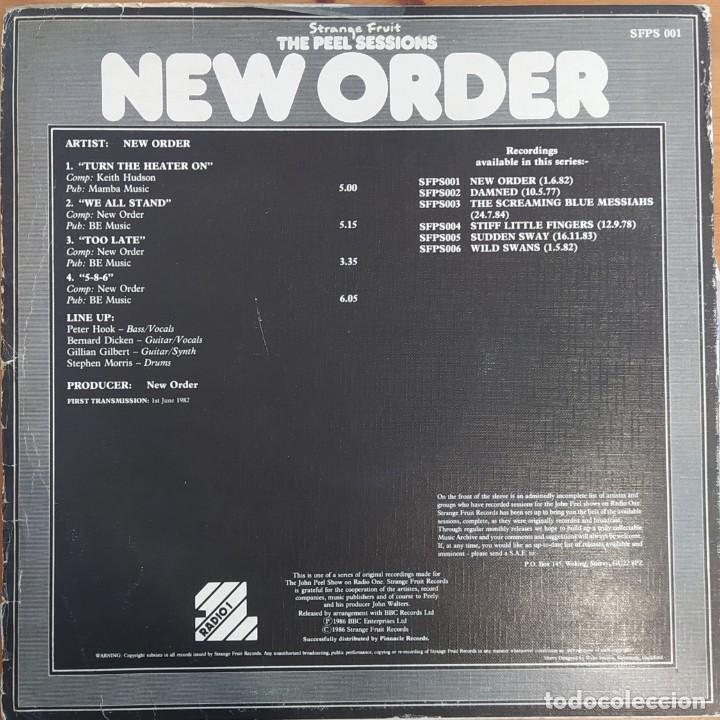 Discos de vinilo: E P NEW ORDER - THE PEEL SESSIONS - UK 1986 - Foto 2 - 224254303
