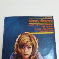 Discos de vinilo: NANCY SINATRA QUE TE PARECE CARIÑO + 3 (1966 REPRISE ESPAÑA) LEE HAZLEWOOD. Lote 224276493