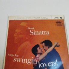 Discos de vinilo: FRANK SINATRA SONGS FOR SWINGIN' LOVERS PENNIES FROM HEAVEN + 3 ( CAPITOL UK ). Lote 224280300