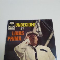 Discos de vinilo: LOUIS PRIMA UNDECIDED + 3 ( CAPITOL FRANCE ) IVE GOT THE WORLD ON A STRING OH MARIE PENNIES FROM HEA. Lote 224284612