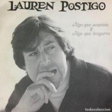 Disques de vinyle: LAUREN POSTIGO - ALGO QUE ACARICIA Y ALGO QUE DESGARRA. Lote 224295813