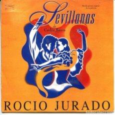 Disques de vinyle: ROCIO JURADO (BSO SEVILLANAS) MEDLEY (SINGLE PROMO 1993). Lote 224295981
