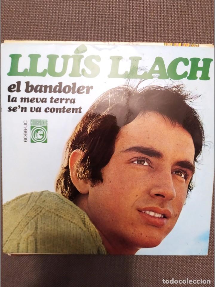 LLUIS LLACH :EL BANDOLER, LA MEVA TERRA, SE'N VA CONTENT CONCENTRIC 1968 FRANCESC BURRULL (Música - Discos de Vinilo - EPs - Cantautores Españoles)