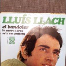 Discos de vinilo: LLUIS LLACH :EL BANDOLER, LA MEVA TERRA, SE'N VA CONTENT CONCENTRIC 1968 FRANCESC BURRULL. Lote 224302635