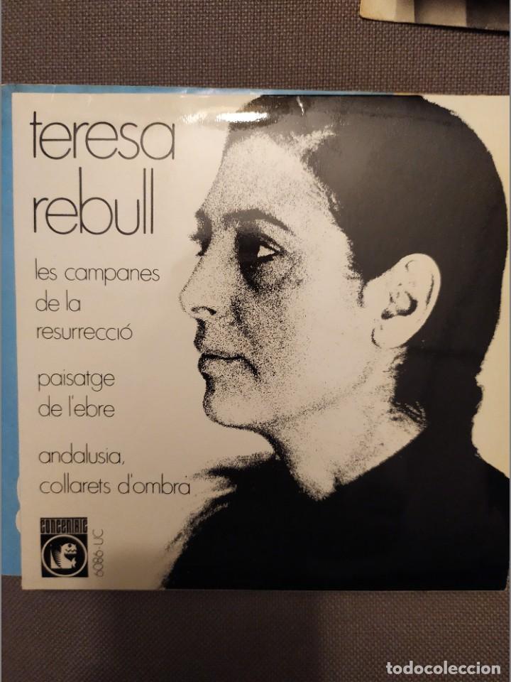 TERESA REBULL: LES CAMPANES DE LA RESURRECIO, PAISATGE DE L'EBRE + 2 CONCENTRIC 1969 FRANCESC BURRUL (Música - Discos de Vinilo - EPs - Cantautores Españoles)
