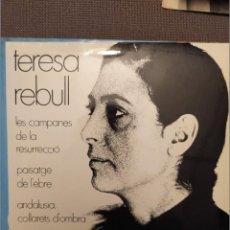 Discos de vinilo: TERESA REBULL: LES CAMPANES DE LA RESURRECIO, PAISATGE DE L'EBRE + 2 CONCENTRIC 1969 FRANCESC BURRUL. Lote 224303862