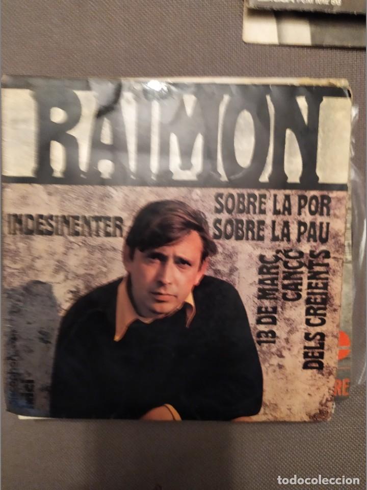 LOTE 2 DISCOS RAIMON: EL PAIS BASC / NDESINENTER, 1967-1968 CONTRACUBIERTA ANDREU ALFARO (Música - Discos de Vinilo - EPs - Cantautores Españoles)