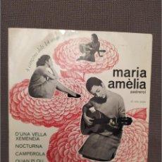 Discos de vinilo: MARIA AMELIA PEDREROL. 4 CANÇONS DELS 14 ANYS, SETZE JUTGES, CONCENTRIC 1965, BURRULL. Lote 224310276