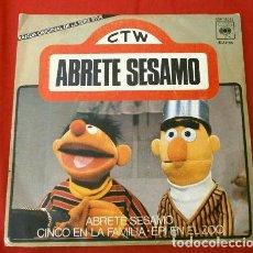 Discos de vinilo: ABRETE SESAMO (SINGLE 1976) BANDA ORIGINAL DE LA SERIE DE TVE (RARO DIFICIL) ED. ESPECIAL - EPI BLAS. Lote 224314472