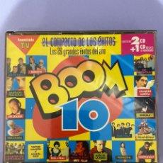 Discos de vinilo: BOOM 10, CONTIENE 2 CD'S + 1 CD REGALO 10 ANIVERSARIO.. Lote 224324173