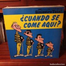 Disques de vinyle: SINIESTRO TOTAL / ¿ CUANDO SE COME AQUI ? / DRO 1982. Lote 224333715