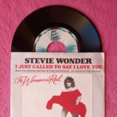 Disques de vinyle: SINGLE STEVIE WONDER - I JUST CALLED TO SAY I LOVE YOU - PORTUGAL PRESS (EX-/EX+) BSO. Lote 224337357