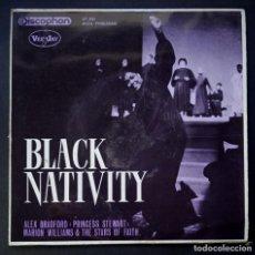 Discos de vinilo: ALEX BRADFORD - BLACK NATIVITY - EP 1963- DISCOPHON. Lote 224338042