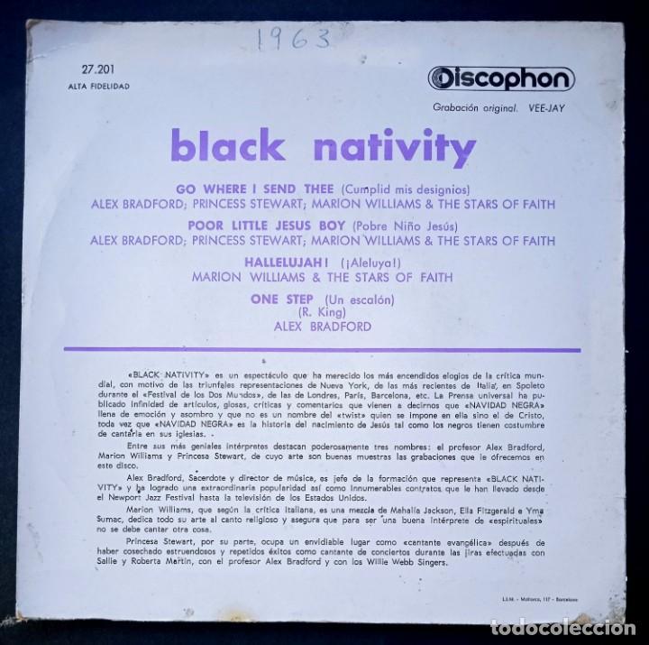 Discos de vinilo: ALEX BRADFORD - black nativity - EP 1963- DISCOPHON - Foto 2 - 224338042