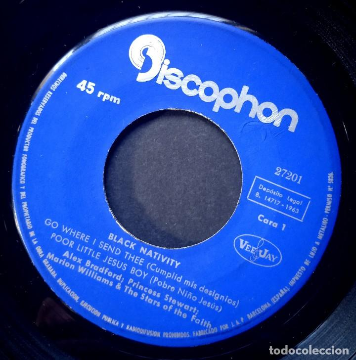 Discos de vinilo: ALEX BRADFORD - black nativity - EP 1963- DISCOPHON - Foto 4 - 224338042