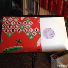 Discos de vinilo: NIÑOS DEL BRASIL (BUNBURY) - AL OESTE (SYNTH-POP, ELECTRONIC, POP)/ MAXI 12' MADE IN SPAIN 1989. M-M. Lote 224362333