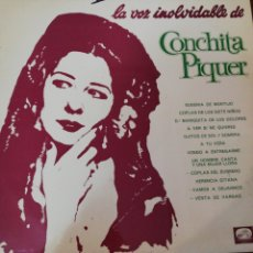 Discos de vinilo: DISCO VINILO. LA VOZ INOLVIDABLE DE CONCHITA PIQUER. VOLUMEN 2.. Lote 224371432