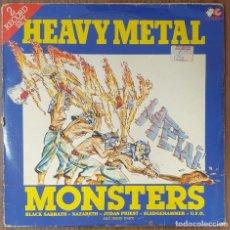 Discos de vinilo: LP DOBLE HEAVY METAL MONSTERS. Lote 224382978