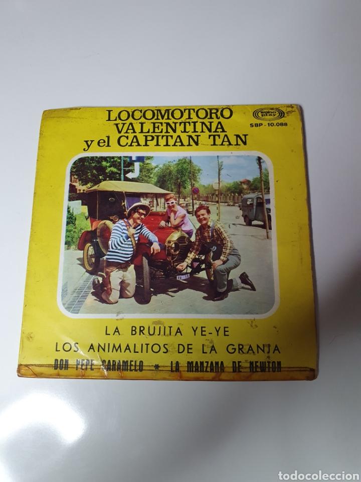 LOCOMOTORO, VALENTINA Y EL CAPITAN TAN - LA BRUJITA YE YE/DON PEPE CARAMELO/LAMANZANA DE NEWTON + 1. (Música - Discos de Vinilo - EPs - Música Infantil)