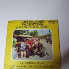 Discos de vinil: LOCOMOTORO, VALENTINA Y EL CAPITAN TAN - LA BRUJITA YE YE/DON PEPE CARAMELO/LAMANZANA DE NEWTON + 1.. Lote 224387012