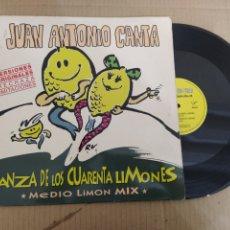 Discos de vinilo: MM DISCO DE VINILO - JUAN ANTONIO CANTA - DANZA DE LOS CUARENTA LIMONES. Lote 224391001