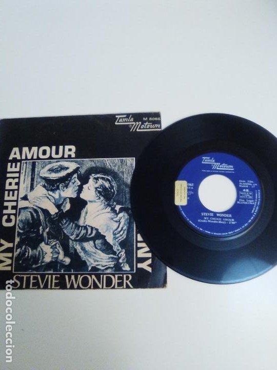 Discos de vinilo: STEVIE WONDER My cherie amour / Sunny ( 1969 TAMLA MOTOWN ESPAÑA ) - Foto 2 - 224400148
