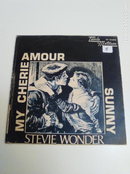 Discos de vinilo: STEVIE WONDER My cherie amour / Sunny ( 1969 TAMLA MOTOWN ESPAÑA ) - Foto 3 - 224400148