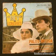 Discos de vinilo: PALITO ORTEGA (SINGLE BSO 1966) (RARO) UN MUCHACHO COMO YO (DEL FILM ARGENTINO EL REY EN LONDRES). Lote 224408171