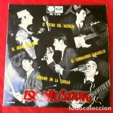 Discos de vinilo: LOS MUSTANG (EP 1966) EL SUBMARINO AMARILLO - EL RITMO DEL SILENCIO - VERANO EN LA CIUDAD - EN GRAN. Lote 224409195