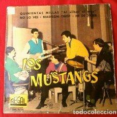 Discos de vinilo: LOS MUSTANG (EP 1962) QUINIENTAS MILLAS (500) - NO LO VES - MADISON TWIST - HE DE SABER. Lote 224409440