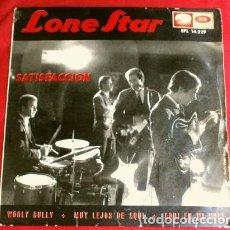 Discos de vinilo: LONE STAR (EP 1965) SATISFACCION (ROLLING STONES) - AQUI EN MI NUBE (ROLLING STONES) MUY LEJOS DE A. Lote 224409952
