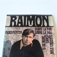 Discos de vinilo: RAIMON SOBRE LA POR + 3 ( 1968 DISCOPHON ESPAÑA ). Lote 224429327