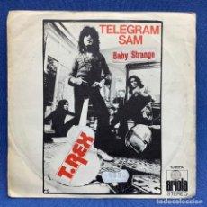 Discos de vinil: SINGLE T.REX - TELEGRAM SAM - ESPAÑA - AÑO 1972. Lote 224430215