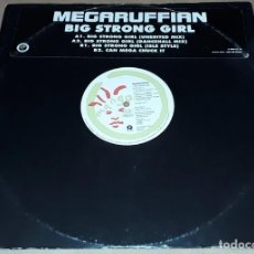 Discos de vinilo: MAXI SINGLE - MEGARUFFIAN - BIG STRONG GIRL - PROMO - MADE IN UK -. Lote 224458738