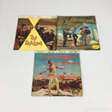 """Discos de vinilo: LOTE 3 EP 7"""" - 2 THE SHADOWS / 1 CLIFF RICHARD CON THE SHADOWS (LA VOZ DE SU AMO, 1961 Y 1963). Lote 224462966"""
